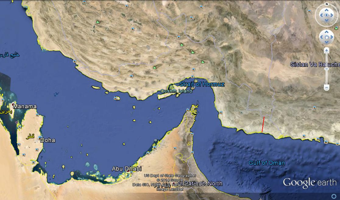 کرمان جنوبی تا دریای عمان فقط ۵۰کیلومتر فاصله دارد.