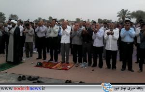 نماز عید فطر شهر نودژ برگزارشد+تصاویر