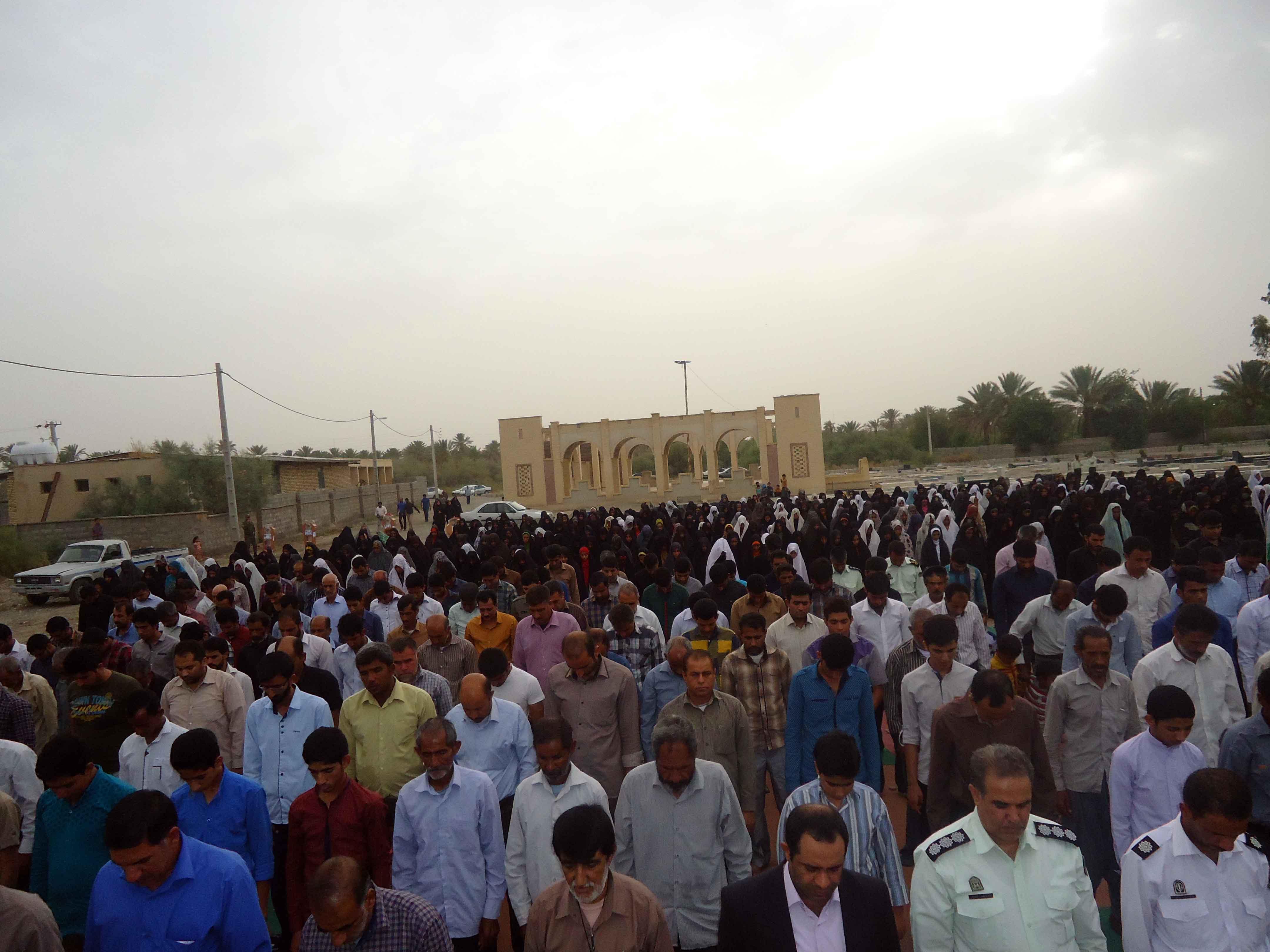 مراسم با شکوه نماز عید فطر در فاریاب+تصویر