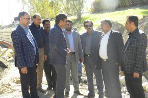 بازدیددکتر حمزه و هیات همراه ازروند اجرای پروژه های در دست اقدام شهرداری نودژ