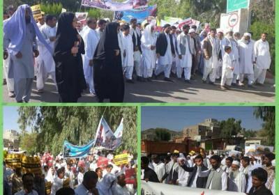 راهپیمایی مردم دیندار و مومن بخش سرباز در روز جهانی قدس