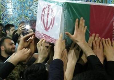 تشییع و تدفین ۹ شهید گمنام در جنوب کرمان