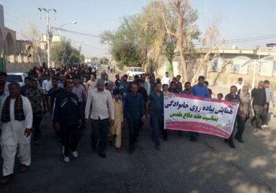 همایش پیاده روی به مناسبت هفته دفاع مقدس در کهنوج