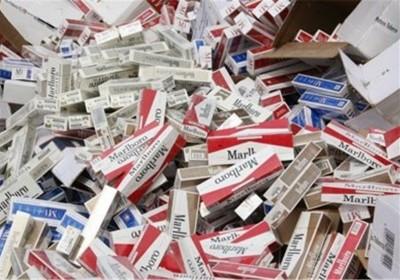 کشف بیش از ۱۰۰ هزار نخ سیگار قاچاق توسط مرزبانان جزیره قشم