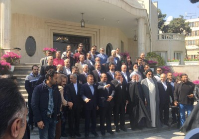 عکس یادگاری هیئت دولت در حاشیه آخرین جلسه سال ۹۶