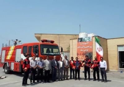 فرماندار شهرستان ابوموسی: آتش نشان از جایگاه ویژه ی برخوردار است