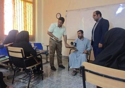 برگزاری دوره آموزشی اندازه گیری فشار خون برای دانشجویان برگزار شد توسط کانون دانشجویی هلال احمر دانشگاه پیام نور خمیر
