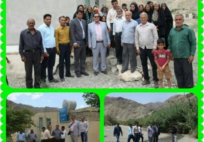 بازدید دکترمکارم ریاست محترم دانشگاه علوم پزشکی جنوب کرمان ازخانه بهداشتی درمانی دهستان  زهمکان وموردان