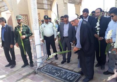 غبار رویی گلزار شهدای فاریاب به مناسبت هفته قوه قضائیه به روایت تصویر