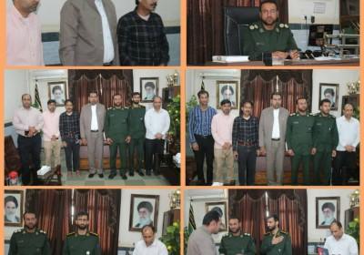 تجلیل از خبرنگاران شهرستان توسط ناحیه مقاومت بسیج سپاه کهنوج