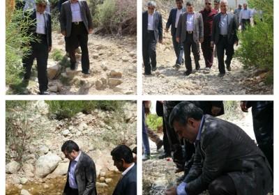 استاندار هرمزگان از روستای هماگ کوه شاه احمدی بازدید کرد