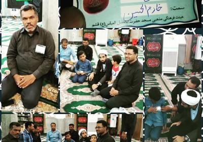 مراسم اعطای نشان خادم الحسین علیه السلام در قشم