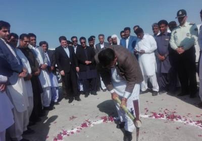 افتتاح و کلنگ زنی دو طرح در شهرستان قصرقند