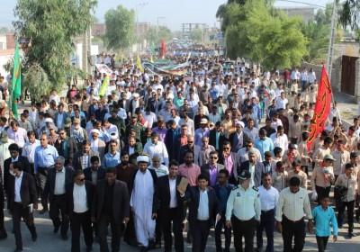 حضور حماسی مردم و بسیجیان فاریاب در راهپیمایی ۱۳ آبان