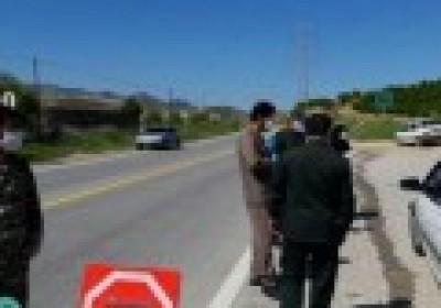 بازدیدفرمانده سپاه کهنوج از ایستگاه های غربالگری کرونا در شهرستان کهنوج