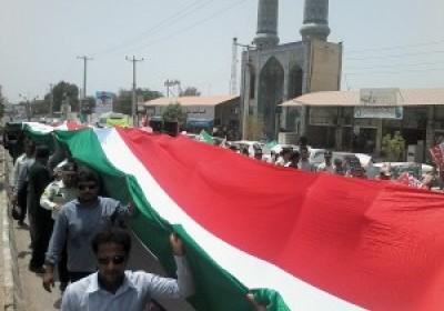 گزارش تصویر مراسم باشکوه راهپیمایی روز جهانی قدس شهرستان سیریک