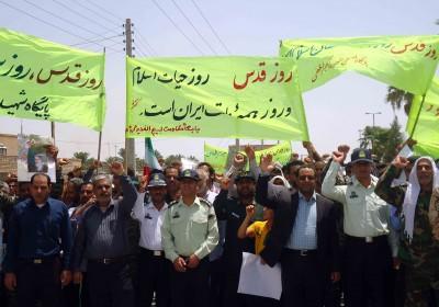 راهپیمایی روز قدس شهرستان فاریاب کرمان به روایت تصویر